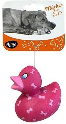 Aime amat służy do zabawy dla psów, kaczka, wykonana z winylu, 8cm - 1 zdjęcie