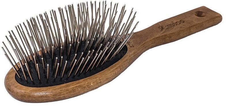 Amico drewniana szczotka, szpilka metalowa 30mm - 1 zdjęcie