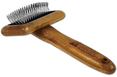 Bambusowa szczotka z ząbkami ze stali szlachetnej dla zwierząt domowych s BG SLICK SM - 1 zdjęcie