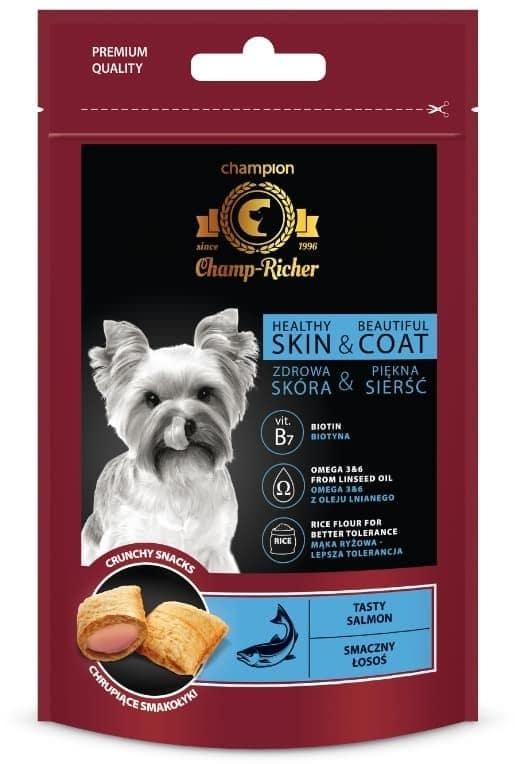 Champ-Richer Skóra i Sierść Przysmaki dla Psa : Smak - Łosoś - 1 zdjęcie