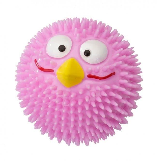 EBI Piłka truskawkowa Rubber Bird z gumy różowa [rozmiar M] 8,3cm PEBI005 - 1 zdjęcie