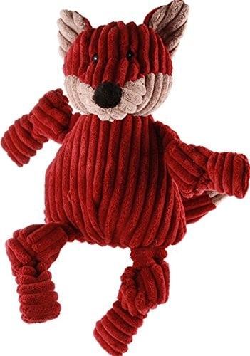 Hugglehounds hugglehounds plusz Cord wytrzymałe knotties zabawka dla dzieci Fox zabawka dla dzieci, mały - 1 zdjęcie