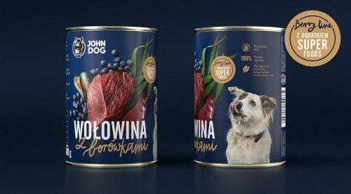 John Dog Wołowina z Borówkami Berry Line 400g - 1 zdjęcie