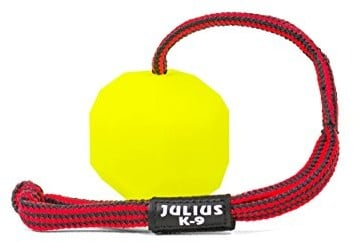 JULIUS K-9 Julius K9 Fluorescencyjna kula ze sznurkiem, wewnątrz pusta, żółty 242-BLL-60 - 1 zdjęcie