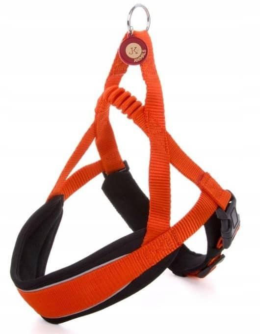 * Mocne * pomarańczowe Szelki dla małego psa do 48 - 1 zdjęcie