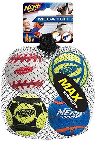 Nerf Dog grubość Mega Sport piłeczki do zabawy, średni, 4 sztuki 3372 - 1 zdjęcie