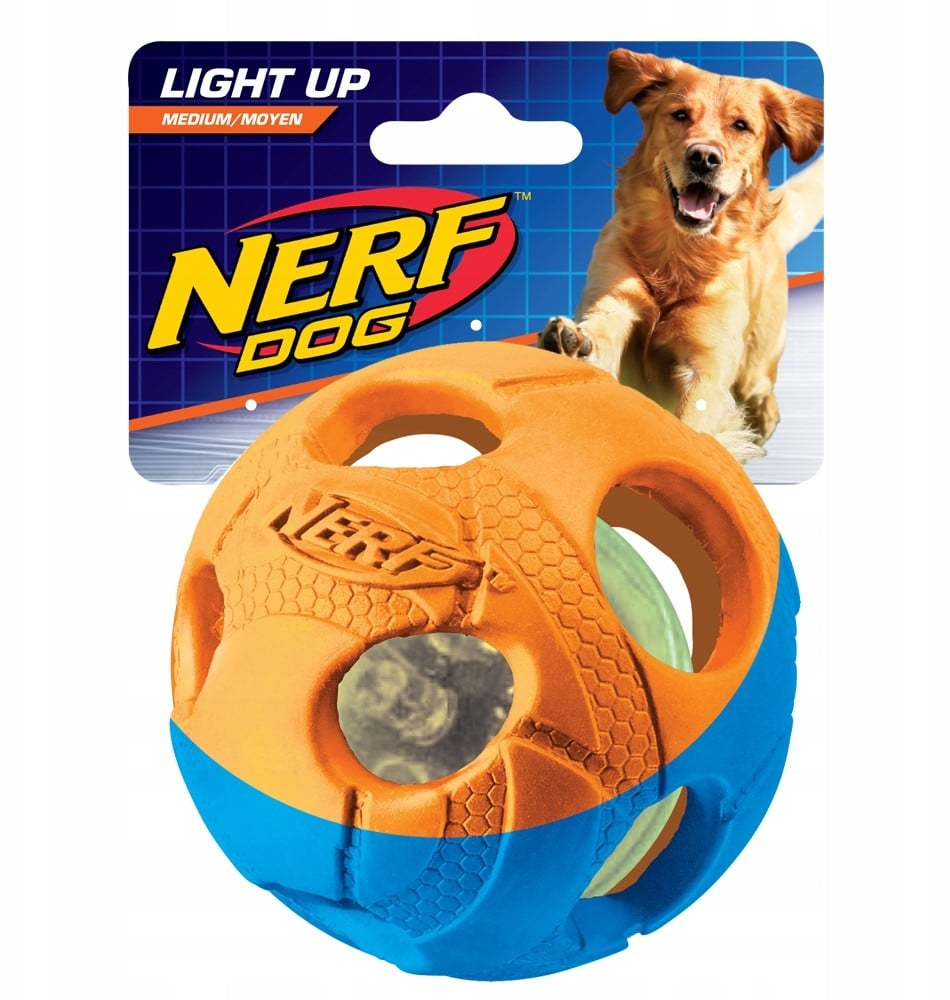 Nerf Dog Iluma Action Led Ball Small Light piłka - 1 zdjęcie
