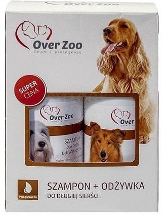 Over Zoo Over Zoo Dwupak Szampon i odżywka dla psów o długiej sierści POVZ029 - 1 zdjęcie