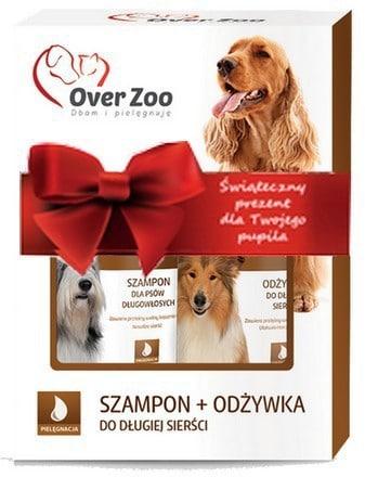 Over Zoo Świąteczny Dwupak Szampon + Odżywka Dla Psów Długowłosych + Sznurek! - 1 zdjęcie
