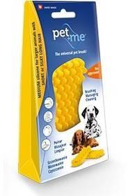 Pet and Me Szczotka  dla psów z krótkimi włosami Żółte - 1 zdjęcie