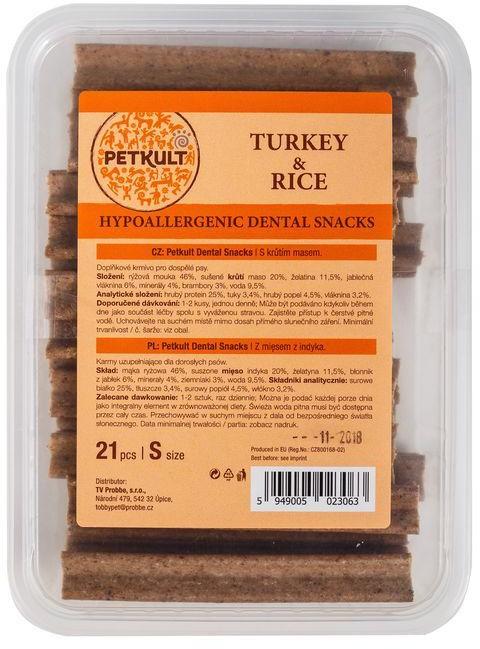 PETKULT DENTAL hypoaler. TURKEY/rice - 1 zdjęcie