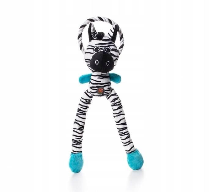 Petstages Thundra Tugga: Zebra + Sznur 52cm [PS694 - 2 zdjęcie