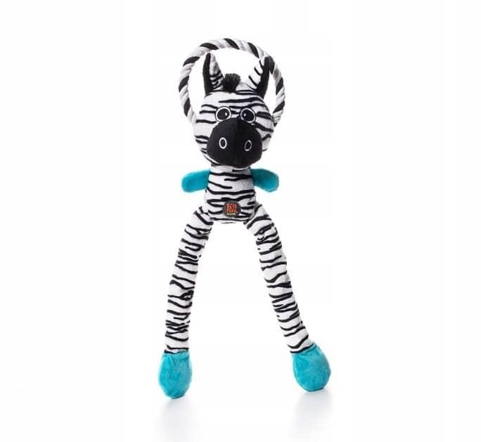 Petstages Thundra Tugga: Zebra + Sznur 52cm [PS694 - 1 zdjęcie