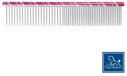 Phoenix grzebień dł. 16 cm, rozstaw zębów pół na pół, różowy - 4 zdjęcie
