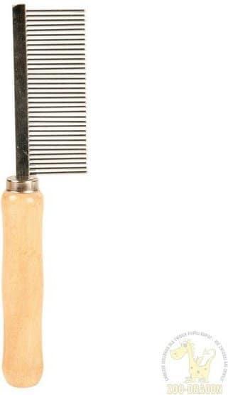 Trixie 2391 Grzebień średniogęsty 18cm z drewnianą rączką TX-2391 - 1 zdjęcie