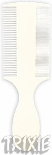 Trixie Grzebień dwustronny z uchwytem 14cm 2400 - 1 zdjęcie