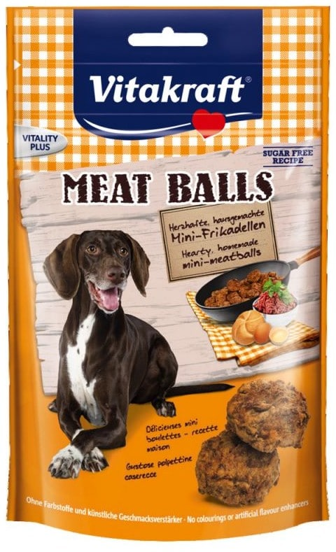 VITAKRAFT Vitakraft Pies Meat Balls przysmak 80g PVIT043 - 1 zdjęcie