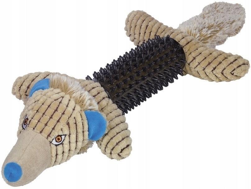 Zabawka dla psa pluszowy wilk z gumą Tpr - 1 zdjęcie