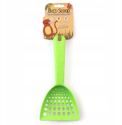Beco Pets Ekologiczna łopatka do żwirku zielona - 1 zdjęcie