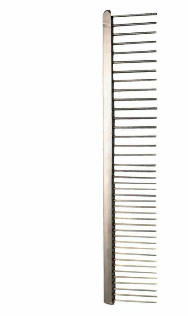 Lessie-Land Grzebień chromowany 16cm, mieszany rozstaw ząbków - 1 zdjęcie