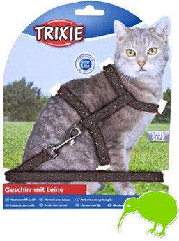 Trixie 4183 Szelki ze smyczą dla kota odblaskowe - 1 zdjęcie