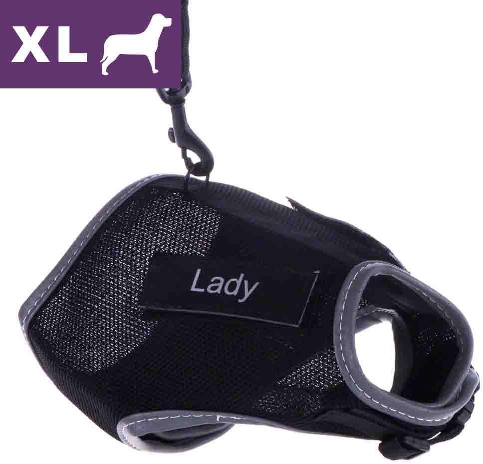 Trixie Szelki dla kota XCat XL z naklejkami i smyczą, czarne - Czarne - 1 zdjęcie