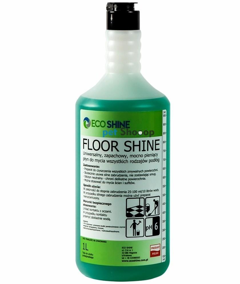 Eco SHINE Shine Floor Shine - zapachowy płyn do mycia podłóg, koncentrat 1l ES-FS-1L - 1 zdjęcie