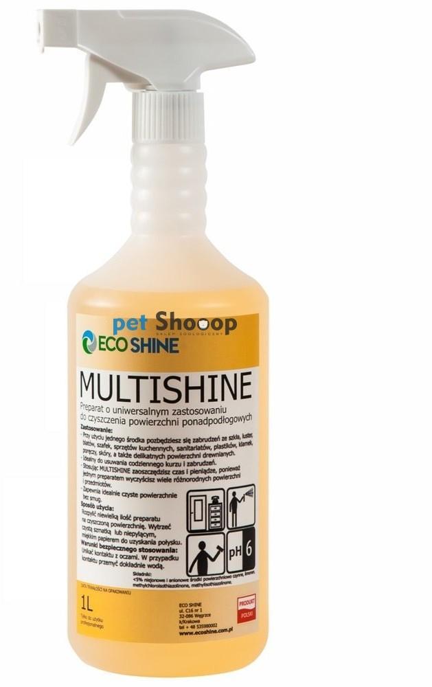 Eco SHINE Shine Multishine - uniwersalny preparat czyszczący do powierzchni ponadpodłogowych 1l ES-MS-1L - 1 zdjęcie