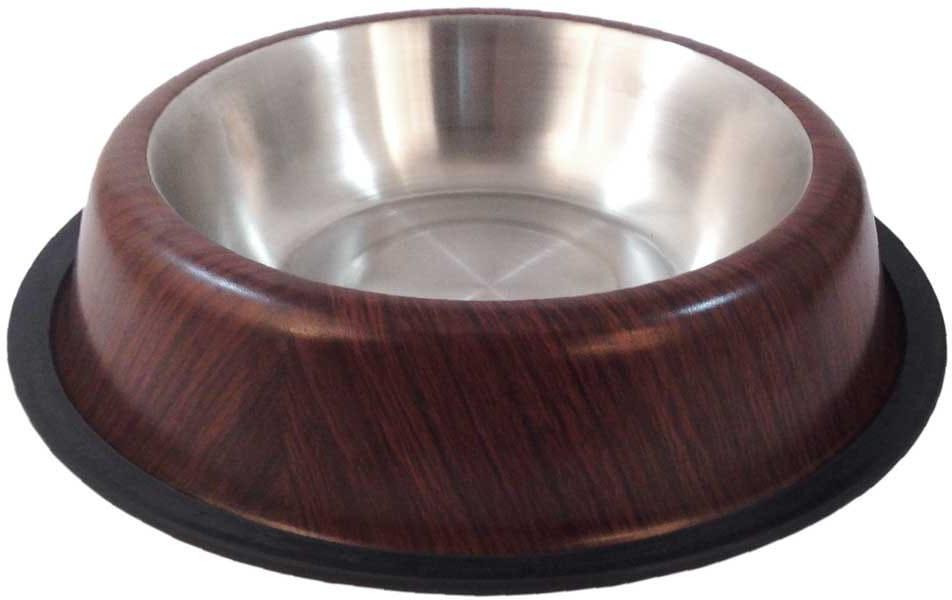 Happet Miska metalowa dla psa kolor drewna 15,5cm / 0,5l - 1 zdjęcie