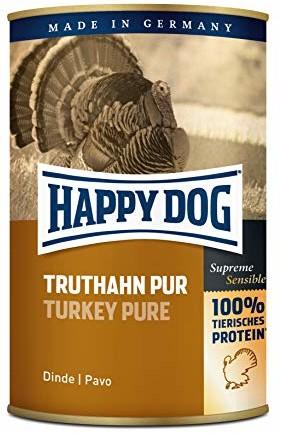 Happy Dog psy podszewka indyka PUR 400G puszka uzupełnienie podszewka, 12sztuk - 1 zdjęcie