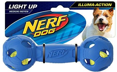 Nerf Dog Vp6804e Illuma LED Dumbbell Action, średni, niebieski / czerwony (2 sztuki) - 1 zdjęcie