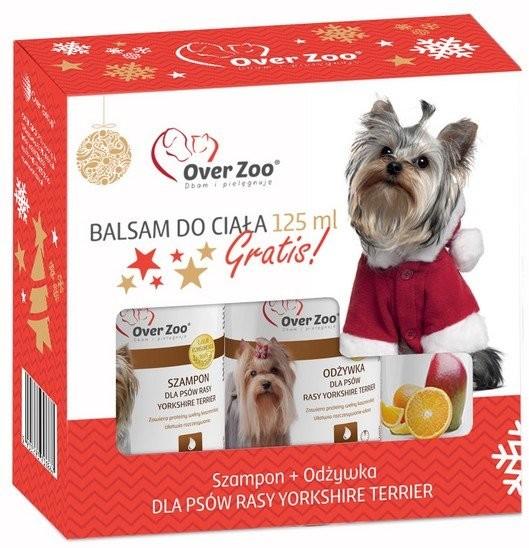 Over Zoo Zestaw Świąteczny Szampon + odżywka dla psów rasy Yorkshire Terier + balsam 125ml gratis - 1 zdjęcie