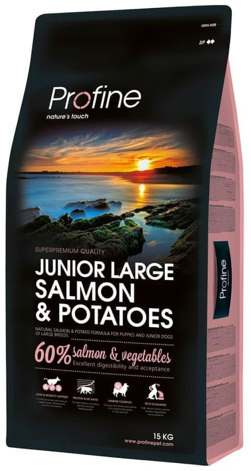 Profine Junior Large Breed Salmon&Potatoes 15 kg - 1 zdjęcie