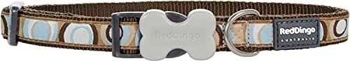 Red Dingo Red Dingo Designerska obroża dla psa, okrągła brązowa (20 mm x 31-47 cm) M DC-CI-BR-20 - 1 zdjęcie