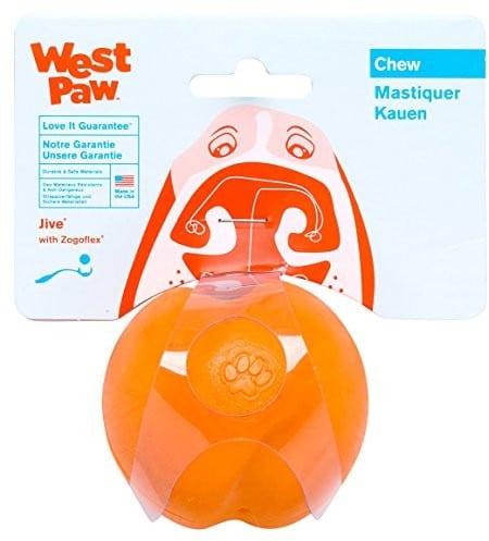 West Paw Jive psów ball, pomarańczowy - 1 zdjęcie